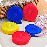 Dosige 4 Stück Maßbänder Fitnessmaßband Sportmaßband Rollmaßband für Küche Haushalt und Wohnen Zufällige Farbe