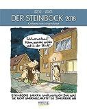 Steinbock 2018: Sternzeichenkalender-Cartoonkalender als Wandkalender im Format 19 x 24 cm.
