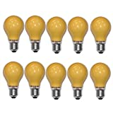 10 x Glühbirne 40W E27 Orange Glühlampe 40 Watt Glühbirnen Glühlampen dimmbar für außen und innen Party Deko (Orange)