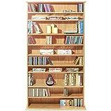 HARROGATE - CD / DVD / Blu-ray Media Storage Shelves - Beech