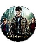 Harry Potter Neuheit 19,1cm rund Essbar Geburtstag Kuchen Topper
