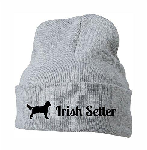 Strickmütze - IRISH SETTER Jagdhund Jäger Jagd Irland - Stickerei Hund Winter...