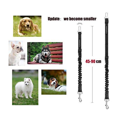 TOPHGDIY Premium Hunde Sicherheitsgurt für das Auto – Einstellbar mit elastischer Ruckdämpfung - 6