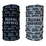 #9: Unisex 10 in1 Multifunctional Royal enfield Bandana, tube Headwrap bandana for biking , Balaclava Free Size(combo of two),complete look of riding royal enfield