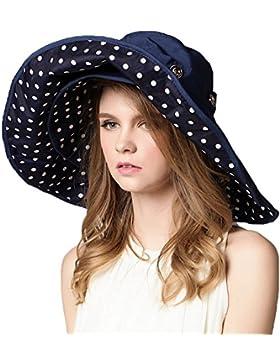 kimtime UPF 50+ plegable &), extra grande borde moldeable disquetera sol sombrero femenino Packable Reversible...