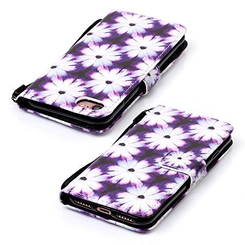 Eine Vielzahl von Farben XFAY HX-455 iPhone 5/5S/SE Handyhülle Case für iPhone 5/5S/SE Hülle im Bookstyle, PU Leder Flip Wallet Case Cover Schutzhülle für Apple iPhone 5/5S/SE -7 Farbe-12