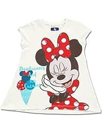 DISNEY Niñas Minnie Mouse Camiseta, blanco