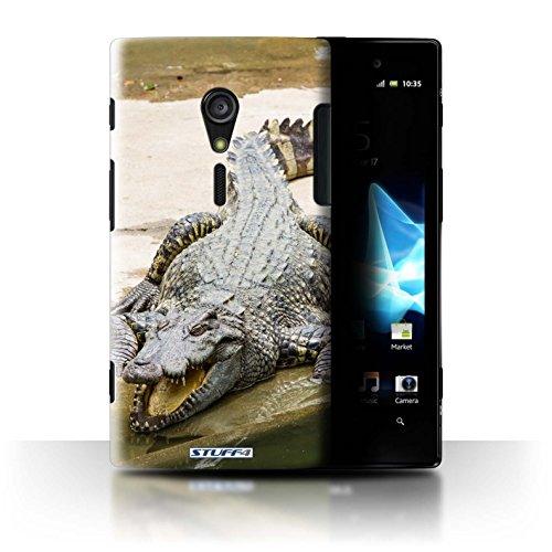 Stuff4® Hülle/Hülle für Sony Xperia ion LTE/LT28 / Krokkodil/Alligator Muster/Wilde Tiere Kollektion