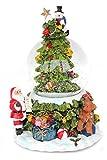 Unbekannt Schneekugel Weihnachtsbaum mit Weihnachtsmann, Schneemann, Teddy (6900070)