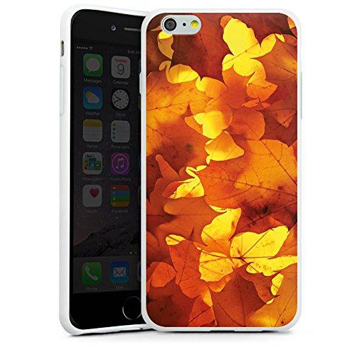 Apple iPhone X Silikon Hülle Case Schutzhülle Herbst Blätter Laub Silikon Case weiß