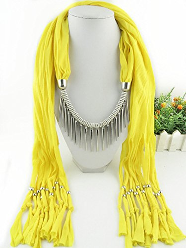 New Product Fashion accessories necklace jewelry shawls shape polyester 180x40 size Jersey scarf for women