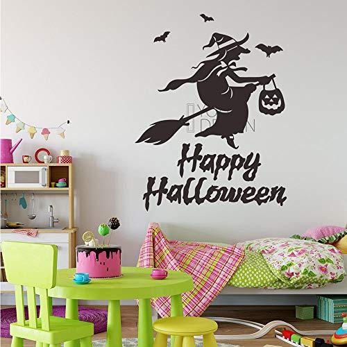 Guokee Halloween Fliegen Hexen Wandaufkleber Wohnzimmer Wand Fenster Outdoor Decor Hexe Silhouette Vinyl Aufkleber Abnehmbare ()