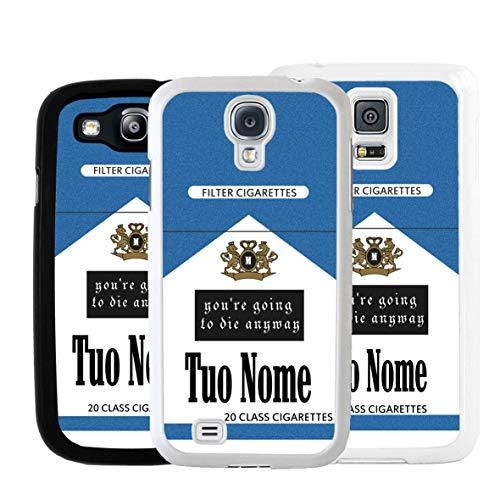 Cover Pacchetto Sigarette Con Nome Per Samsung, Samsung Galaxy S5 Neo, Bianco