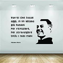 Idea Regalo - Adesivi Murali - Wall Stickers - Tiziano Ferro la fine canzoni italiane i miei piani - AM188