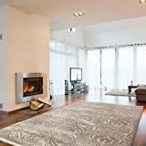 mynes Home Teppich Beige Ornamente Vintage Versace Design Wohnzimmer Velour Hochwertig (160 x 230 cm)