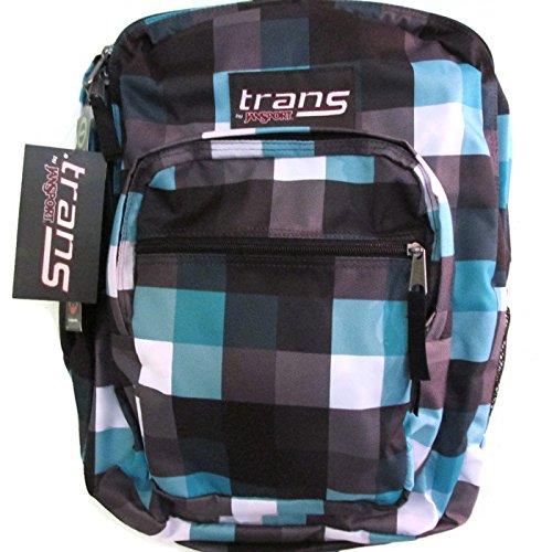 Jansport Tm 60 Supermax 36l/2200 Cu in Black/white/blue Plaid Backpack -