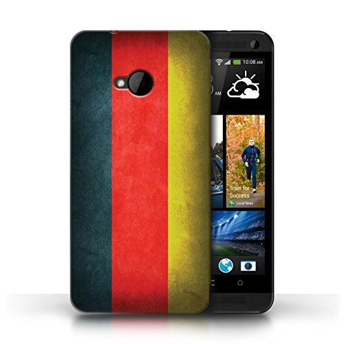 Coque en plastique pour HTC One/1 M7 Collection Drapeau - Irlande/irlandais Allemagne/allemand
