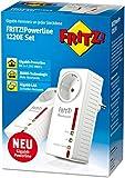 AVM FRITZ! Powerline 1220E Set (1.200 MBit/s, 2 x Gigabit-LAN je Adapter, ideal für NAS-Anwendungen und HD-Streaming), geeignet für Deutschland
