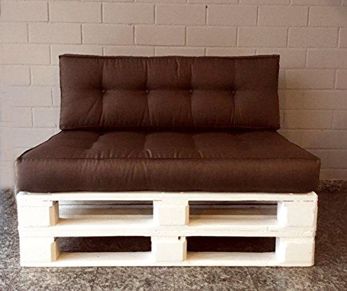 Mayaadi Home Rückenkissen für Palettenauflage Sofa Euro Paletten Polster MH-JC02 Dunkelbraun (27) 120x40x10-20 cm