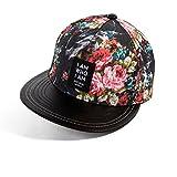 Versione Femminile Coreano Flussi in Berretti da Baseball di Estate Cappello a Tesa Piatta Stampa di Moda cap Visiera-B