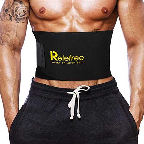 Faja Reductora Adelgazante Relefree Adjustable Adelgazar Faja para la Cintura / Espalda / Lumbar Faja de Neopreno con Velcro (Fitness Hombre / Mujer Disponible)