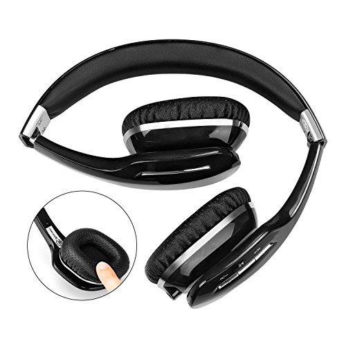 Kingyou Bluetooth Kopfhörer Funk Für Fernseher On Ear Kopfhoerer Kabellos (HD007 Schwarz) - 3