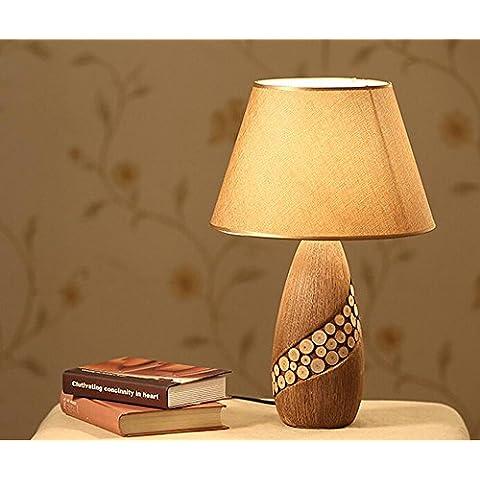 KHSKX Lampada da comodino in ceramica decorativa, lampade d'arte Studio,