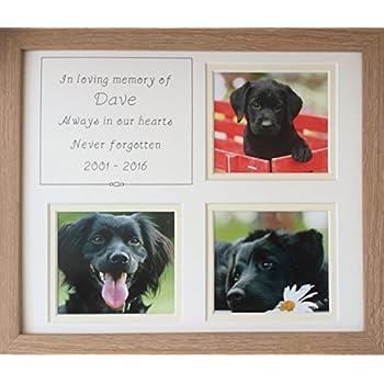 In Loving Memory Pet Memory Personalised Photo Frame, Beech, 12 x 10 ...