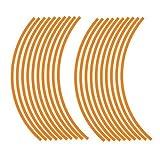 JOllify Felgenrandaufkleber für dein Fahrrad, MTB, Downhill, Freeride, Dirt, Fully, Hardtail, usw. - orange