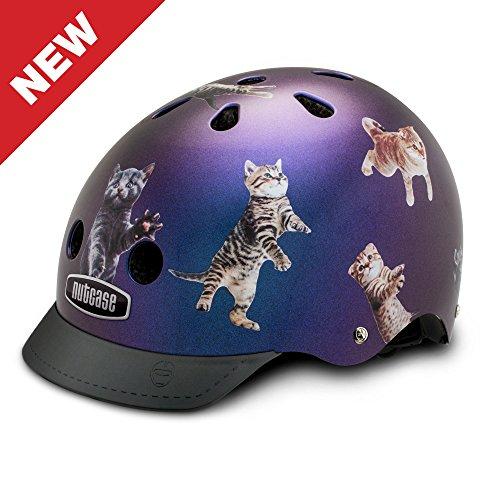 Nutcase Street Space Cats Multisport Helm für Kinder und Erwachsene, Größe:S (52-56 cm)