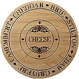 Creative Tops - Tabla de queso (madera, tamaño grande, forma redonda)
