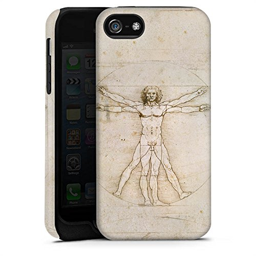 Apple iPhone 4 Housse Étui Silicone Coque Protection Léonard de Vinci Les Proportions du Corps Humain Art Cas Tough terne