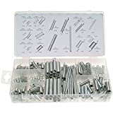 TILY 200pcs / Set Métal en Vrac Printemps Bobine en Acier / Compression / Ressorts d'extension Assortiment Kit Assorti