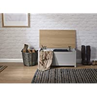 Lancaster Ottoman Storage Chest Bench - Grey and Oak