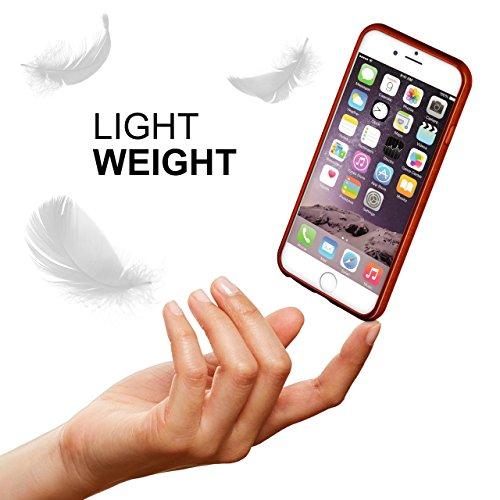 iPhone 7/8 Hülle Silikon Dunkel-Rot [OneFlow Brushed Back-Cover] TPU Schutzhülle Ultra-Slim Handyhülle für iPhone 7/8 Case Dünn Silikonhülle Rückseite Tasche INDIAN-RED