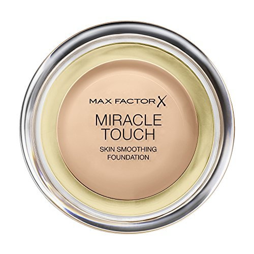 Max Factor Miracle Touch Foundation 60 Sand, 1er Pack (1 x 12 ml) (Max Factor Compact)