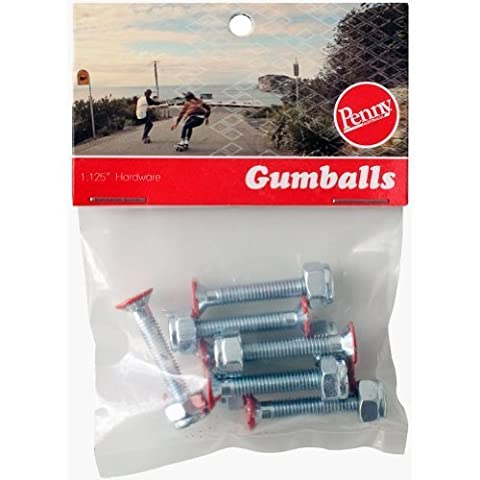 """Penny Gumball Skateboard Bolts, Red, 1.125"""" by Penny"""