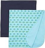 Care Baby-Jungen Schal Baby1, 2er Pack, Blau (Dark Navy 778), One size (Herstellergröße: 70X70)