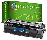 Printing Pleasure Toner kompatibel zu Q7553X 53X für HP Laserjet P2015 P2015D P2015DN P2015N P2015X P2010 P2012 P2013 P2014 P2014DN P2014N P2014X M2727 M2727NF M2727NFS MFP - Schwarz, hohe Kapazität