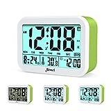 Reloj digital con despertador de la marca Jiemei. Relojes para niños y adultos, funciona con pilas, pantalla de 4,5pulgadas, retroiluminación inteligente, 3alarmas, 7tonos, un buen regalo para la escuela