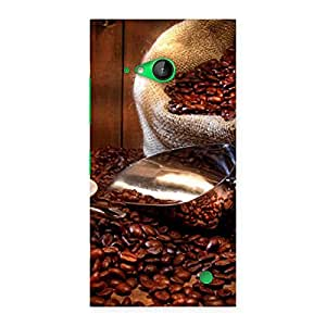 Enticing Coffee Beans Brown Back Case Cover for Lumia 730