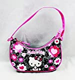 Handbag – Hello Kitty – New Black Flower Bow Sac à main Purse Girls 84013 by Fab Star point