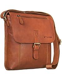 STILORD 'Matthias' Bolso Mensajero para hombres piel pequeño bolso bandolera tablet iPad 10.1 pulgadas vintage de cuero auténtico de búfalo
