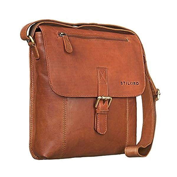 f9800b9b Ofertas para comprar online Bolso de mano Stilord ('Matthias' Bolso  bandolera para hombres piel vintage bolso mensajero 10. 1 pulgadas tablet  iPad pequeño ...