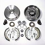 Bremstrommeln/Bremsen Kit mit ABS-Ringen + Radlager hinten