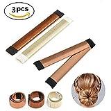 Chignon magique, 3 PCS Accessoires de Coiffure, Bun Maker Set d'Outils de Coiffure Cheveux Coiffure...
