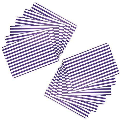 MamboCat 12er Tischset Cado lila 43 x 28.5 cm I abwaschbare PVC-Platzsets I abwischbare Tischmatten I wasserfeste Untersetzer I Gastro