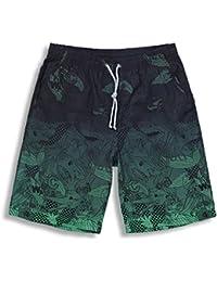 Bañador para Hombres, Cinnamon Hombre Pantalones Cortos para Nadar Swim Trunks Quick Dry Surf en la Playa Running…