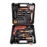 LESHP 35-teiliger Werkzeugkoffer Werkzeugsatz Premium Universal mit Werkzeugbestückung und 600W 220V, 50/60Hz Elektrische Bohrmaschine