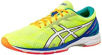 ASICS Men's Gel-Ds Racer 10 Flash Yellow, Lightning and Blue Mesh Running Shoes - 13 UK